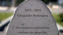 French memorial stone to the Armenian women who died