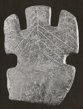 Armenian Goddess figure with upraised arms and incised leaf/tree design (Teshebaini, 1st millennium BCE)