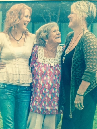 My sister Carissa, Nanna (Ailsa) and me