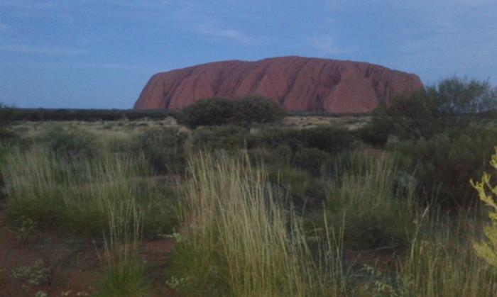 Uluru just after sunset Photo by K. Brunner