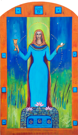 Mary Magdalene, painting by Judith Shaw
