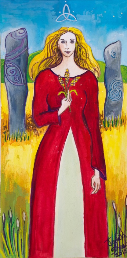 Grainne, Celtic Goddess by Judith Shaw