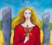 Grainne, Celtic Goddess painting by Judith Shaw