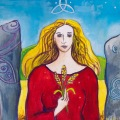 Grainne, Celtic Goddess painting by Judith Shaw