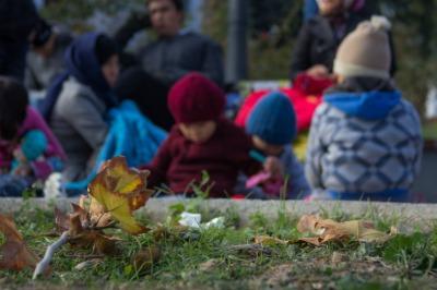 refugee children in Lesbos