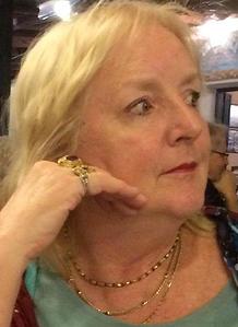 Carol in Crete turquoise