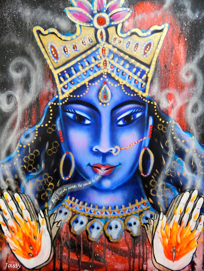 Kali Ma - She who carries transformation upon Her breath.