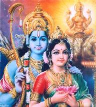 Goddess Sita with Rama