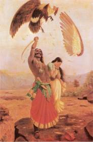 Sita's abduction by Ravana. Artist: Raja Ravi Verma