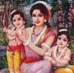 Sita with her sons