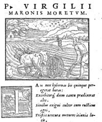 Illustration of Moertum (1558 Edition of Vergil's works)