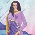 Celtic goddess art by Judith Shaw
