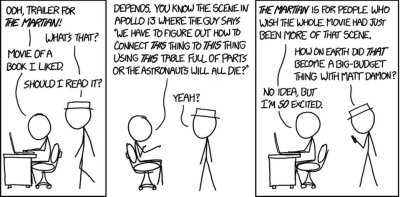 """The Martian,"" xkcd, image sourced from here."