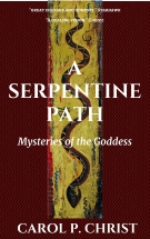 A Serpentine Path Cover with snakeskin background