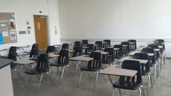 My first classroom on my first day of full-time teaching