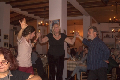 Green party dancing 3