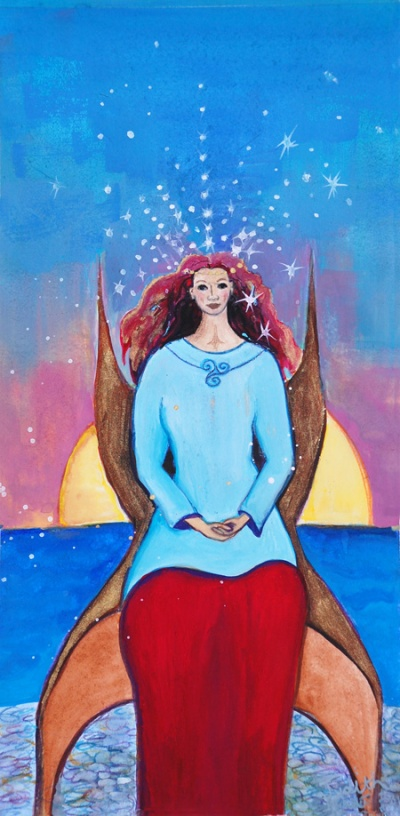 celtic goddess art-Mor Setting Sun Goddess