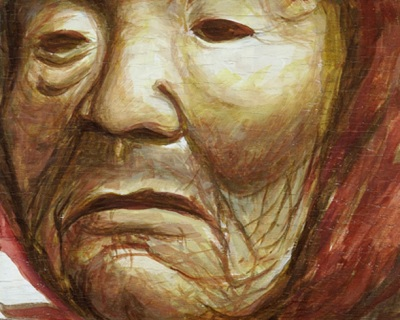 Old Woman Mask by Pinche Michi