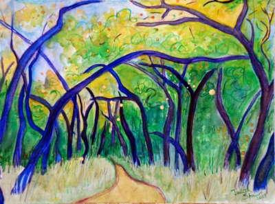 The Road Not Taken, painting by Judith Shaw