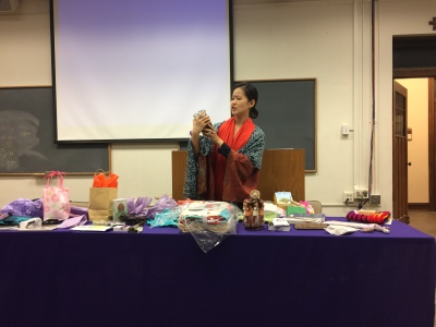 EunBee Ham leads us all in a fun night of exchanging gifts & auction.