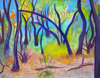 Little Bosque, painting by Judith Shaw