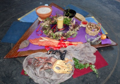 Autumn Equinox altar - celebrating Her
