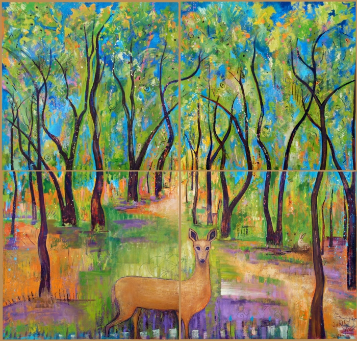 Our Enchanted Bosque, painting by Judith shaw