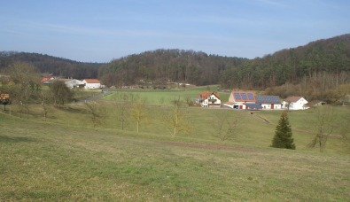 Gresselgrund with farmland and forest