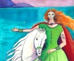 Niamh, Celtic Goddess art by Judith Shaw