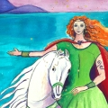 Niamh, Celtic Goddess art by Judith Shaw