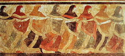 Fresco from the 'Tomb of the Dancing Women', 4th C BCE, Apuglia, Italy