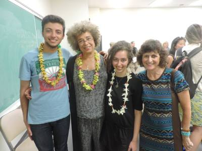 Right to Education students with Angela Davis at UH Manoa