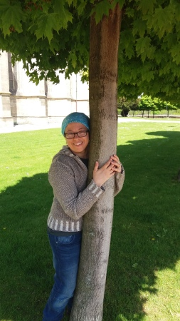me hugging tree