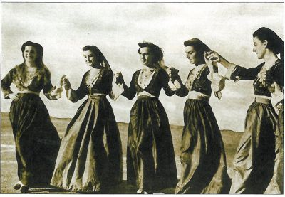 Dancing women of Chania, Crete, early 20th C.