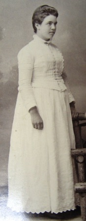 Jennie, maker of quilts and dresses and gardener of roses