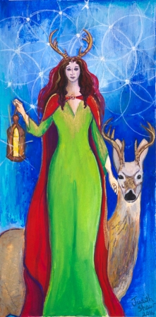 Elen of the Ways,painting by Judith Shaw