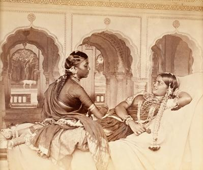 William Willoughby Hooper. Hindoo Dancing Girls, India, 1870, from the collection of Gloria Katz and Willard Huyck