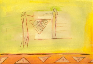 Guardians of the Triad, painting by Judith Shaw