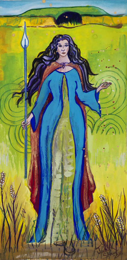 Tialtiu, Celtic Earth Goddess painting by Judith Shaw