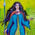Tailtiu, cropped image of painting by Judith Shaw