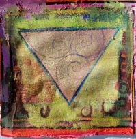 A Celtic Triad, painting by Judith Shaw