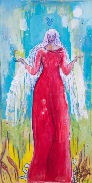 21st Century Bird Goddess by Judith Shaw