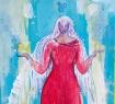 bird goddess painting by judith shaw
