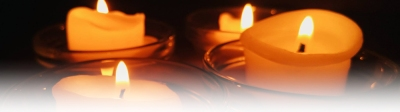 Service of Lament candles