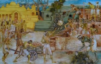 Visakha Directing the Construction of the Eastern Monastery in Savatthi, at the Nava Jetavana, Shravasti