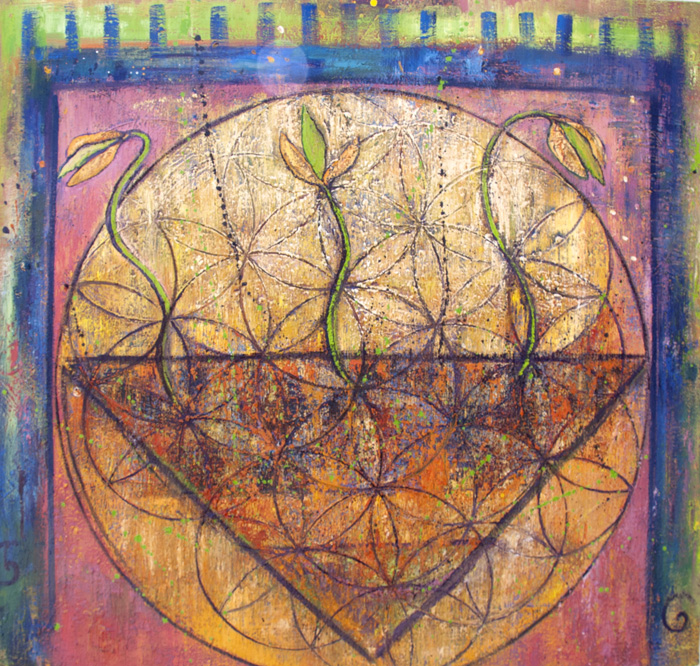 The Flower of Life painting by Judith Shaw