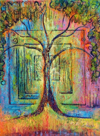 Spirit Tree-painting-by-judith-shaw