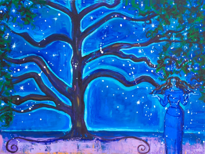 Star-Tree-Goddess-painting by Judith Shaw
