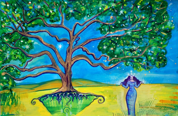 Star Tree-Star-Goddess-painting-by-Judith-Shaw