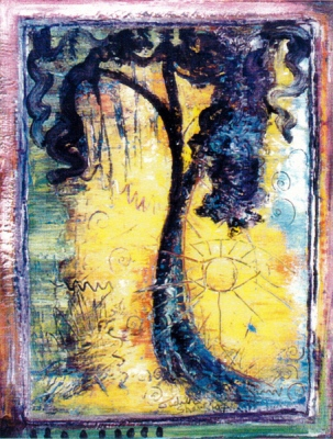 The Huluppa Tree, painting by Judith Shaw